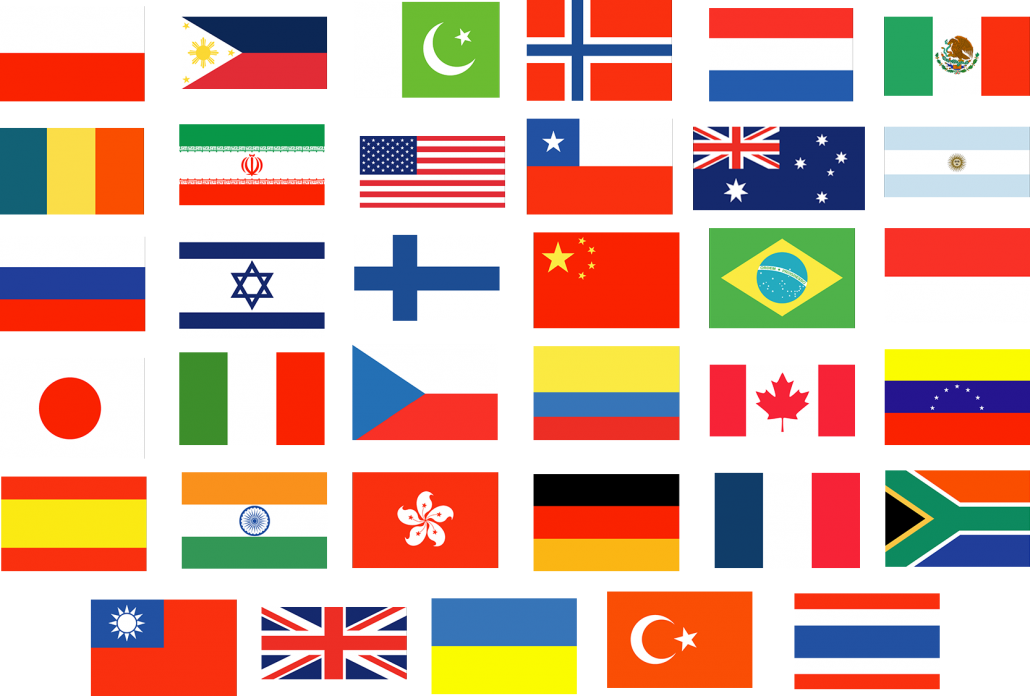 Geo targeted country flags